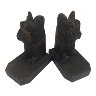 Scottish Terrier Bookends - A Pair