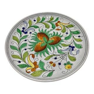 Italian Glazed Terracotta Floral Platter