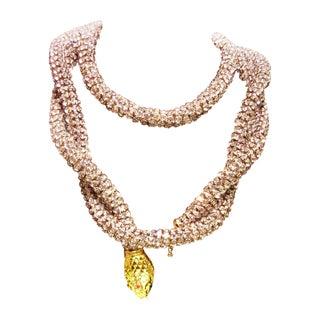 Kenneth Jay Lane Rhinestone Snake Belt Necklace