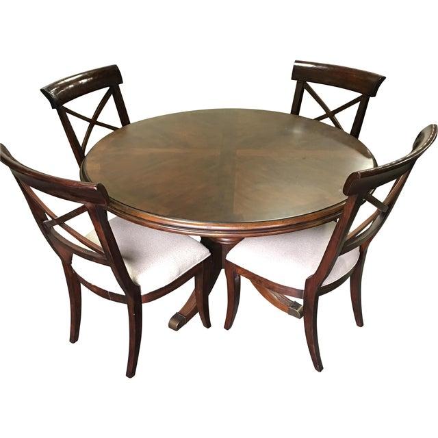 Drexel Heritage Brown Wood Dining Set - Image 1 of 7