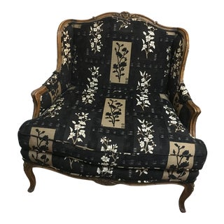 Oversized Black Ornate Chair