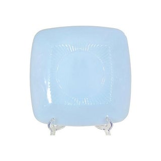 1950s Square Fire-King Turquoise Plate