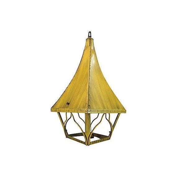 Image of Mid-Century Iron Pagoda Pendant Light