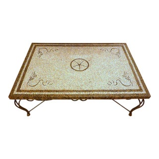 Maitland-Smith Stone Mosaic Cocktail Table