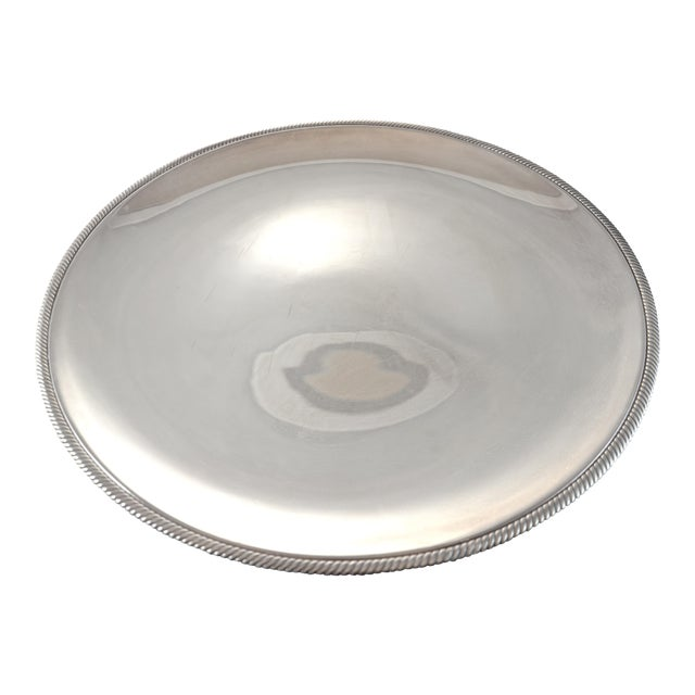 "Oversize 17"" Round Silver Tray, Circa 1950s - Image 1 of 4"