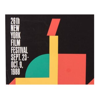 Signed Milton Glaser New York Film Festival Poster