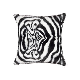 Black & White Zebra Faux Hide Pillow