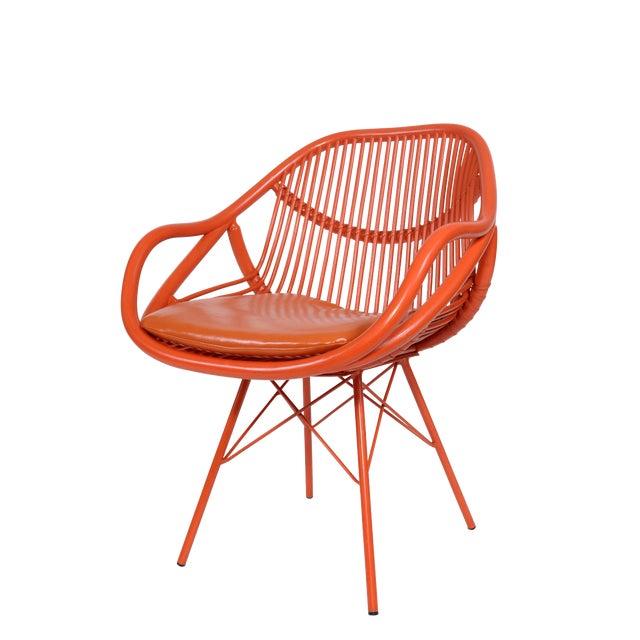 David Francis Modern Rattan Chair - Image 1 of 3