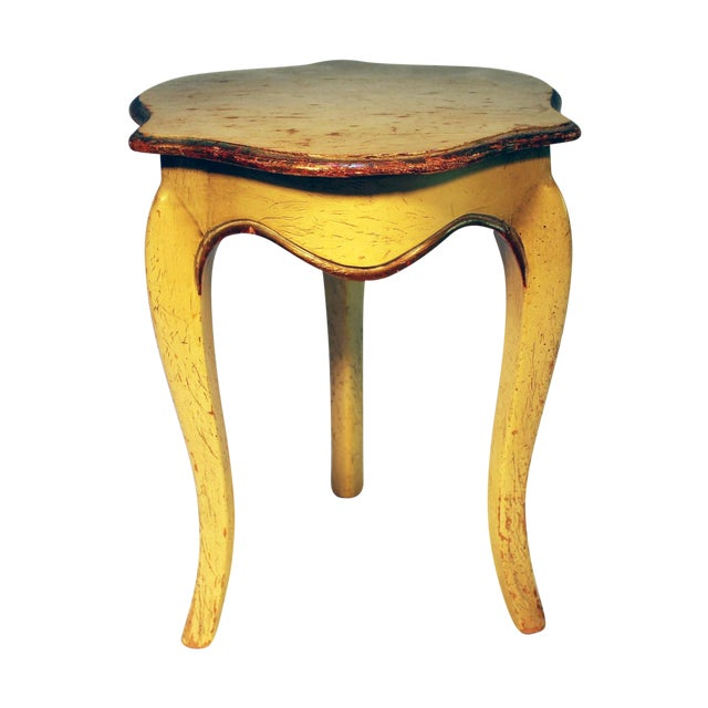 Bell Shaped Primitive Wood Side Table - Image 1 of 6