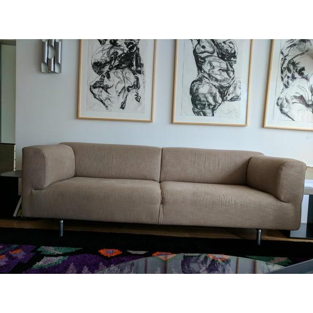 Cassina Met 250 Beige Sofa by Piero Lissoni - Image 4 of 10