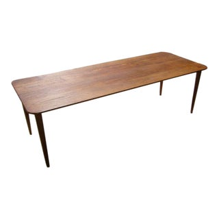 Exceptional Danish Solid Teak Longboard Coffee Table 1950's