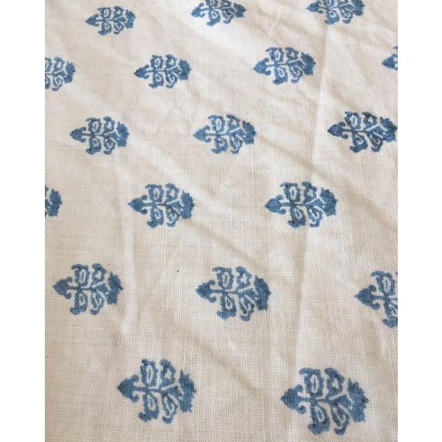 White & Blue C&c Milano Fabric- 3 1/2 Yards - Image 1 of 3