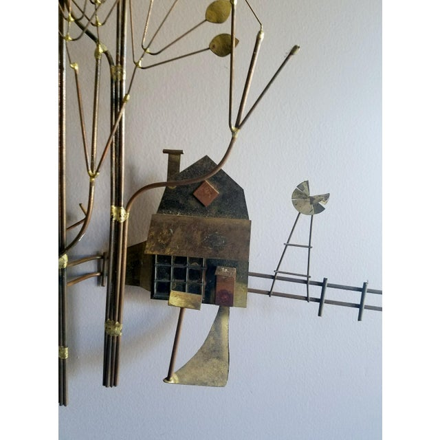 Curtis Jere Country House With Windmill Wall Sculpture - Image 5 of 8