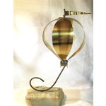 Image of C. Jere Inspired Brass Hot Air Balloon Sculpture