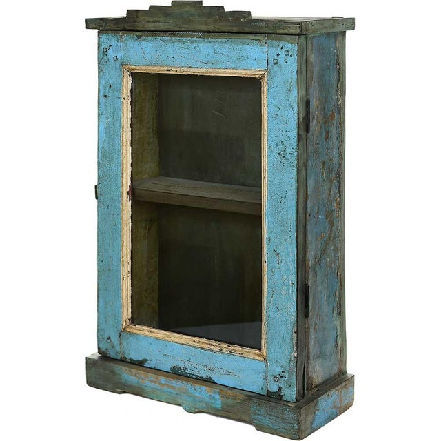 Image of Arctic Blue Showcase Wall Cabinet