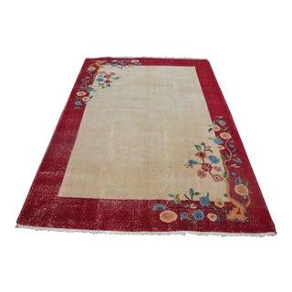 Vintage Floral Turkish Carpet - 5′4″ × 7′10″