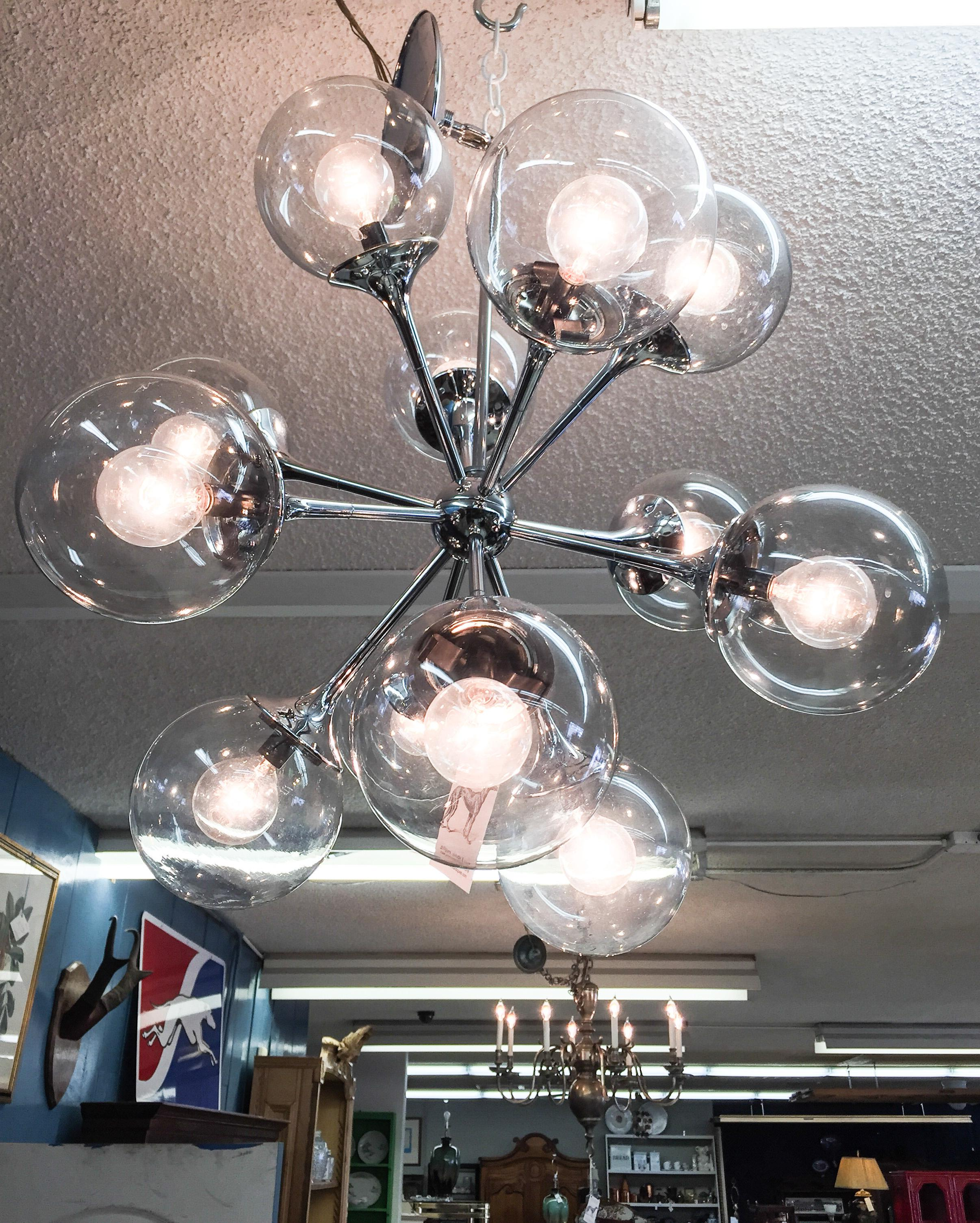 Vintage Lightolier Sputnik Light With 12 Globes Chairish