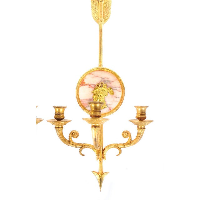 French Empire Gilt Arrow Wall Sconces - A Pair - Image 3 of 9