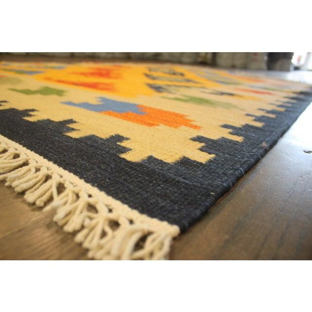 Apadana - Indian Hand-Knotted Kilim Rug, 5' x 8' - Image 2 of 2