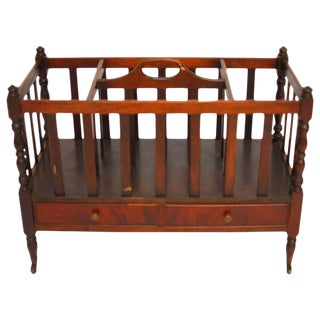English Regency Canterbury Magazine Rack