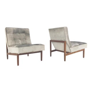 Forsyth One of a Kind Florence Knoll Lounge Chairs Restored in Brazilian Cowhide - Pair
