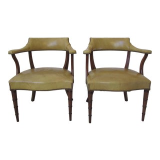 Vintage Butterscotch Leather Armchairs - A Pair