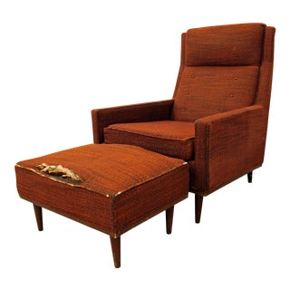 Selig of Monroe Mid-Century Lounge Chair & Ottoman