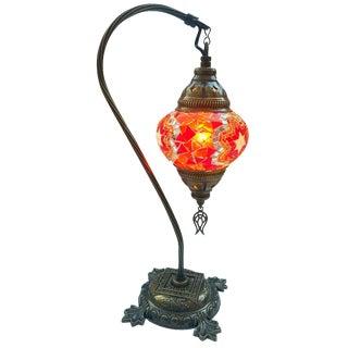 Orange Mosaic Pendant Table Lamp