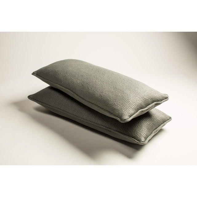 Gray Shark Lumbar Pillows - A Pair - Image 3 of 3