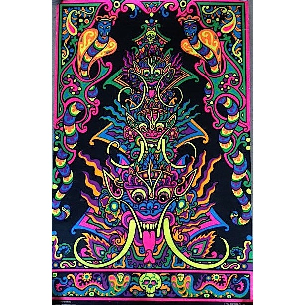 Image of Orlando Macbeth Vintage Krishna Black Light Poster