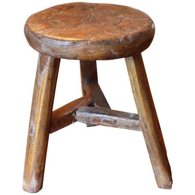 Rustic French Round Stool - Image 4 of 6