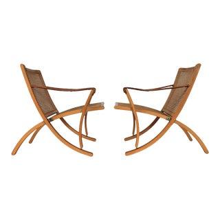 Sigurd Ressel for Vatne Möbler Folding Chairs - A Pair