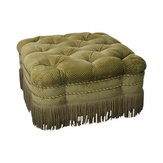 Custom Upholstered Tufted Square Ottoman