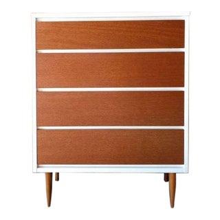 Mid Century Walnut Refinished Lacquer Highboy Dresser