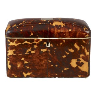 Tortoise-Shell Tea Caddy
