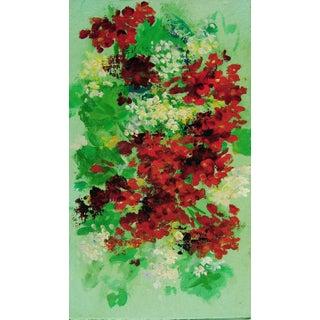 Geraniums & Friends Oil Painting