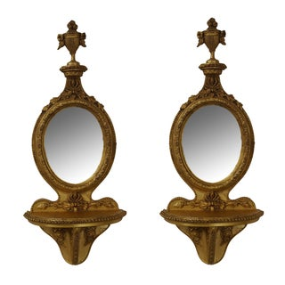 Quality French Louis XV Style Gilt Shelves - Pair