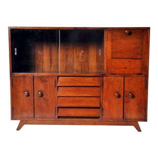 British Colonial Teakwood and Bar Cabinet