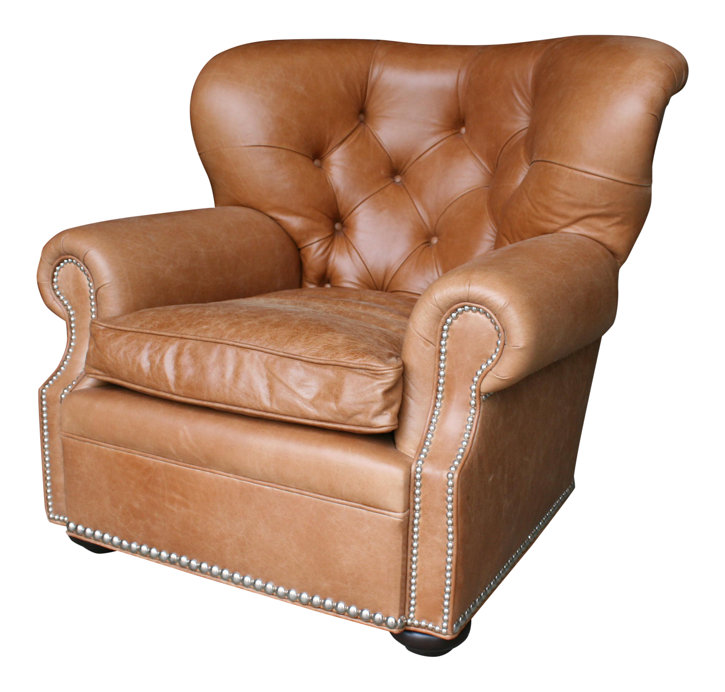 barclay butera huntington leather club chair - Brown Leather Club Chair