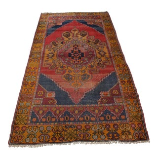 Turkish Oushak Rug- 3′9″ × 7′2″
