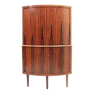 Scandinavian Modern Rosewood Corner Cabinet Circa 1960