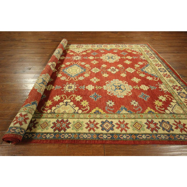 Super Kazak Hand Knotted Rug Red - 9' x 12' - Image 10 of 11