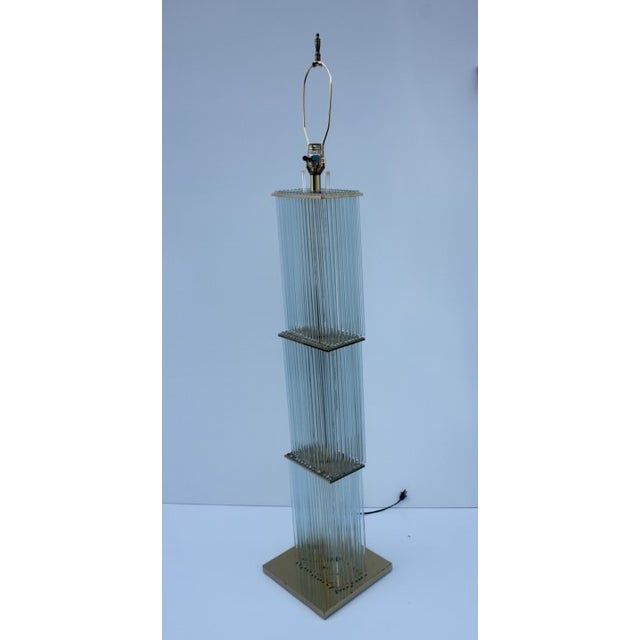 Image of Gaetano Sciolari Glass Rod Skycraper Floor Lamp