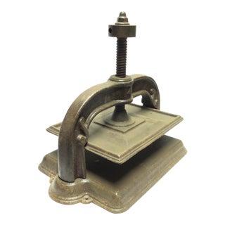 Antique Cast Iron Book Press