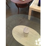 Image of Mario Bellini for Cassina Travertine and Chrome Coffee Table with Glass