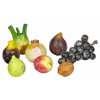 Colorful Wooden Fruit Set - Set of 8