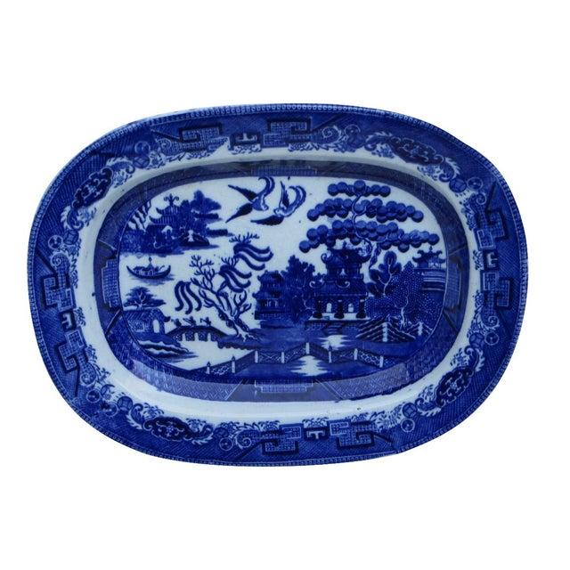 Flow Blue Platter - Image 1 of 6