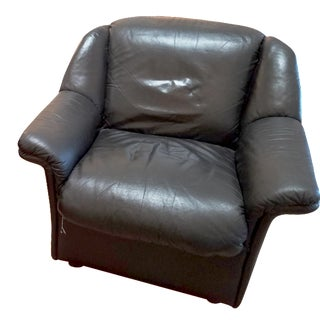 Black Leather Nicoletti Salotti Chair