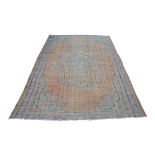Tribal Vintage Antique Faded Floor Rug - 6′2″ × 9′2″
