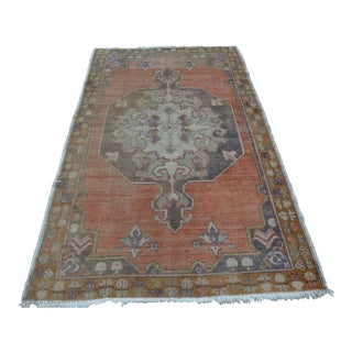 Tribal Handmade Carpet - 4′3″ × 7′3″